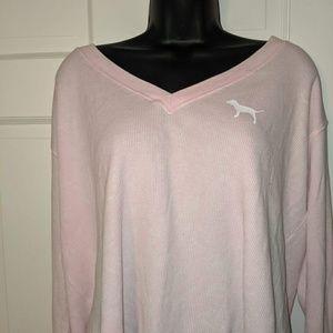 Pink long sleeve crop top